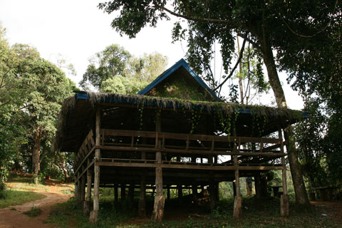 House at Tad Yuang in Pakse, Laos