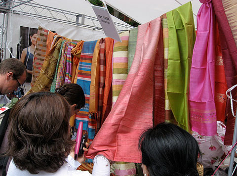Textiles from the Laos booth