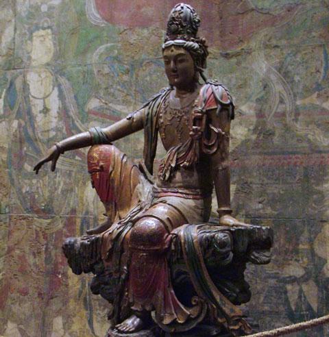 liao dynasty-guan yin statue