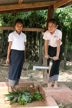 Dannavieng Elementary School - water fountain