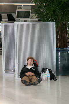 stranded at airport