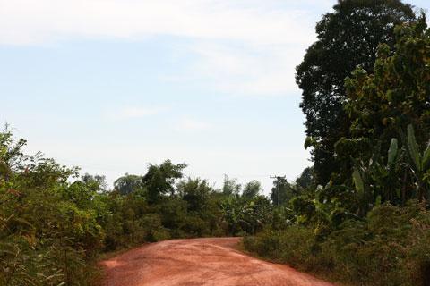 Local road in Paksan