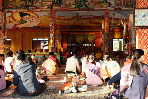 Almsgiving in Paksan Laos