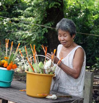 a local flower vendor
