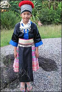 Child in traditional Hmong dress