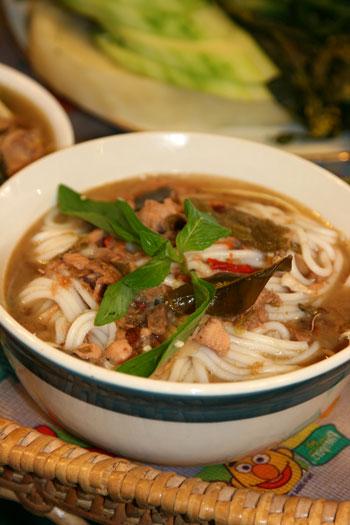 Lao noodle aka Kao Poon