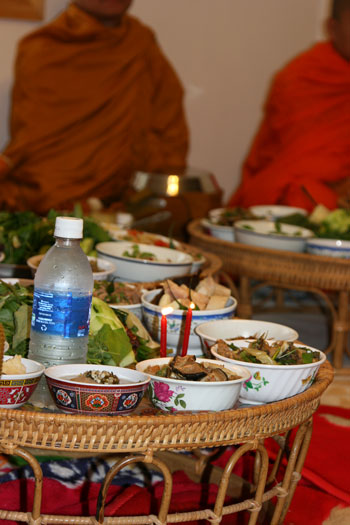 food offered to monks