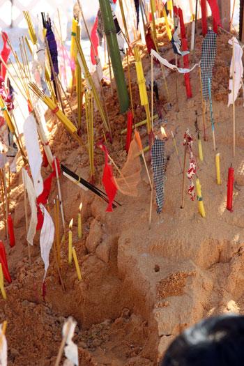 Sand stupa