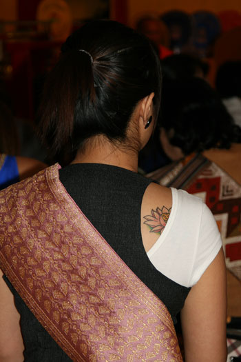 Lao lady with Lotus tattoo