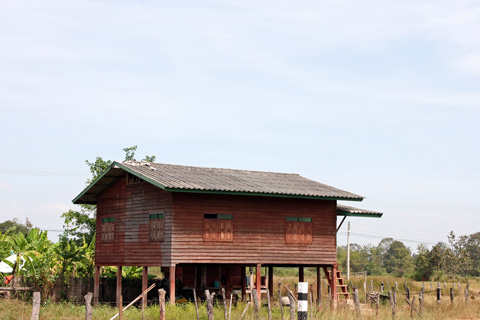 Stilt house in Laos