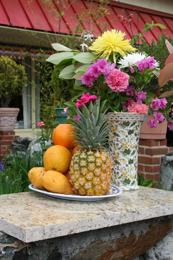 Fruit tray for worshipping