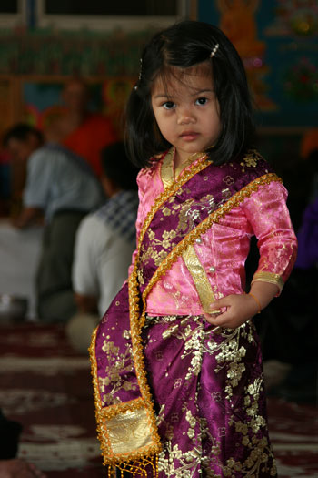 Young Buddhist worshipper