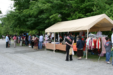 foods and souvenir vendors