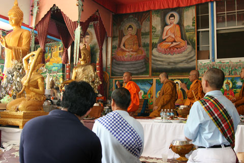 ceremony for Visakha Puja