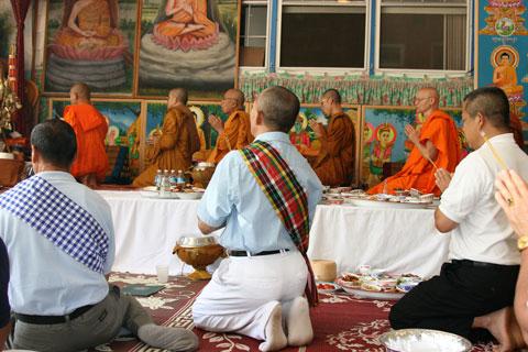 ceremony for Visaka Puja
