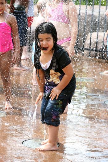 A Hispanic girl at Dan Nickolas Park
